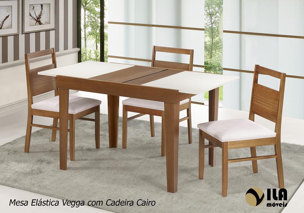 Mesa Elástica Vegga com Cadeira Cairo