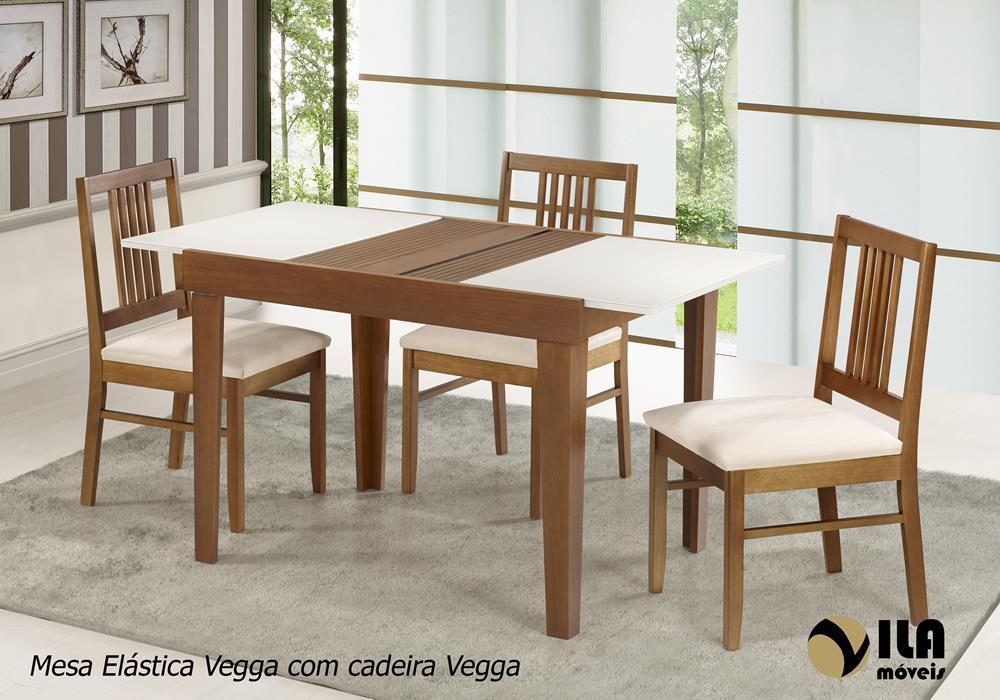 Mesa Elástica Vegga com Cadeira Vegga